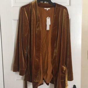 Willow & clay velvet kimono cardigan